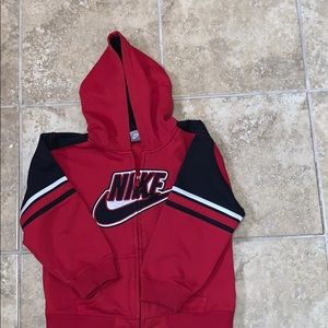 Nike Boys Red & Black Jacket Size 7